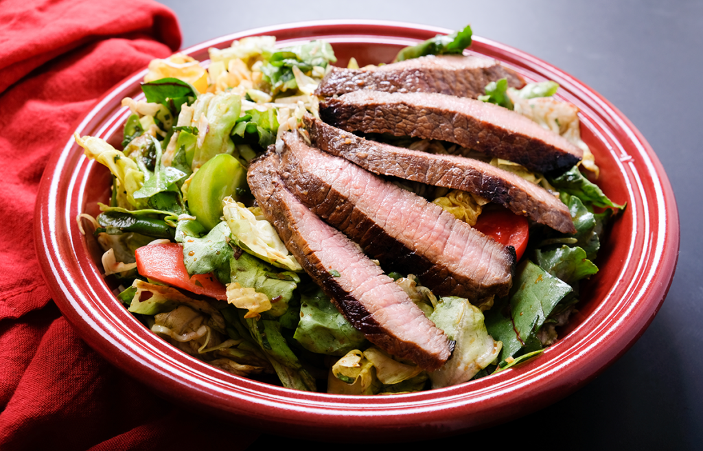 Ketogenic Diet - Salad with Meat